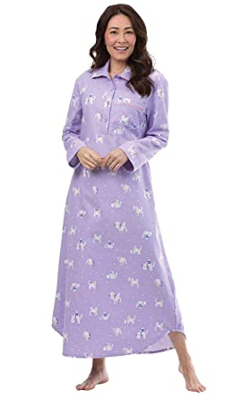 e6d392ed90 PajamaGram Women s Cotton Flannel Nightgown - Long Flannel ...