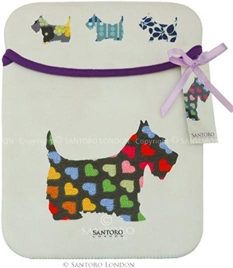 Santoro London Scottie Puppy Dogs Neoprene Accessory Case