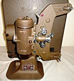 Vintage 1930's Bell and Howell 8MM Filmo Master 400 Design 122 Model G Projector with Original Case and Reels – NRMINT Condition Looks and feels NEW