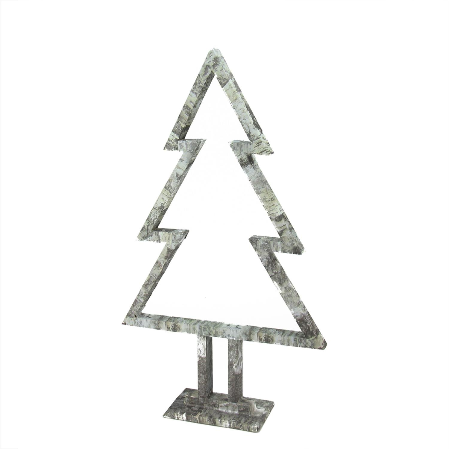 22'' Country Cabin Tree Silhouette Table Top Christmas Decoration