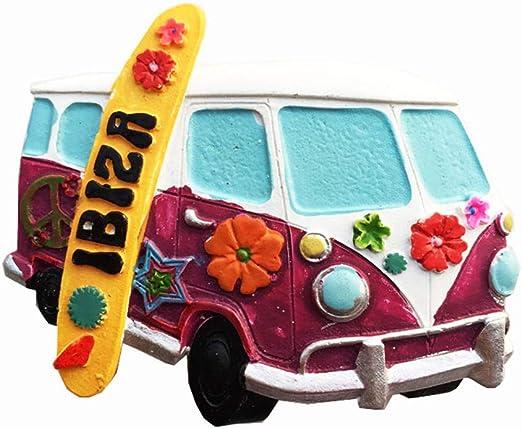 Imán de nevera 3D Ibiza España para regalo de recuerdo para el hogar o la cocina decoración magnética Ibiza refrigerador imán colección: Amazon.es: Hogar