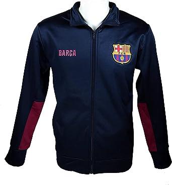 FC Barcelona Adult Zippered Hooded Sweatshirt-Away Blue