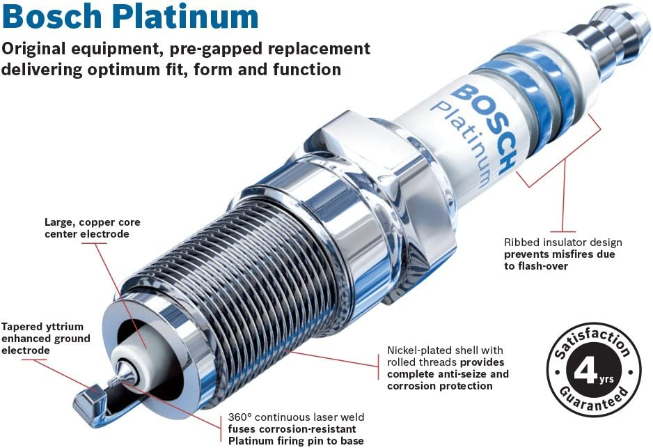 Lincoln and Mazda Bosch 6750 Platinum Spark Plug Pack of 1 Ford
