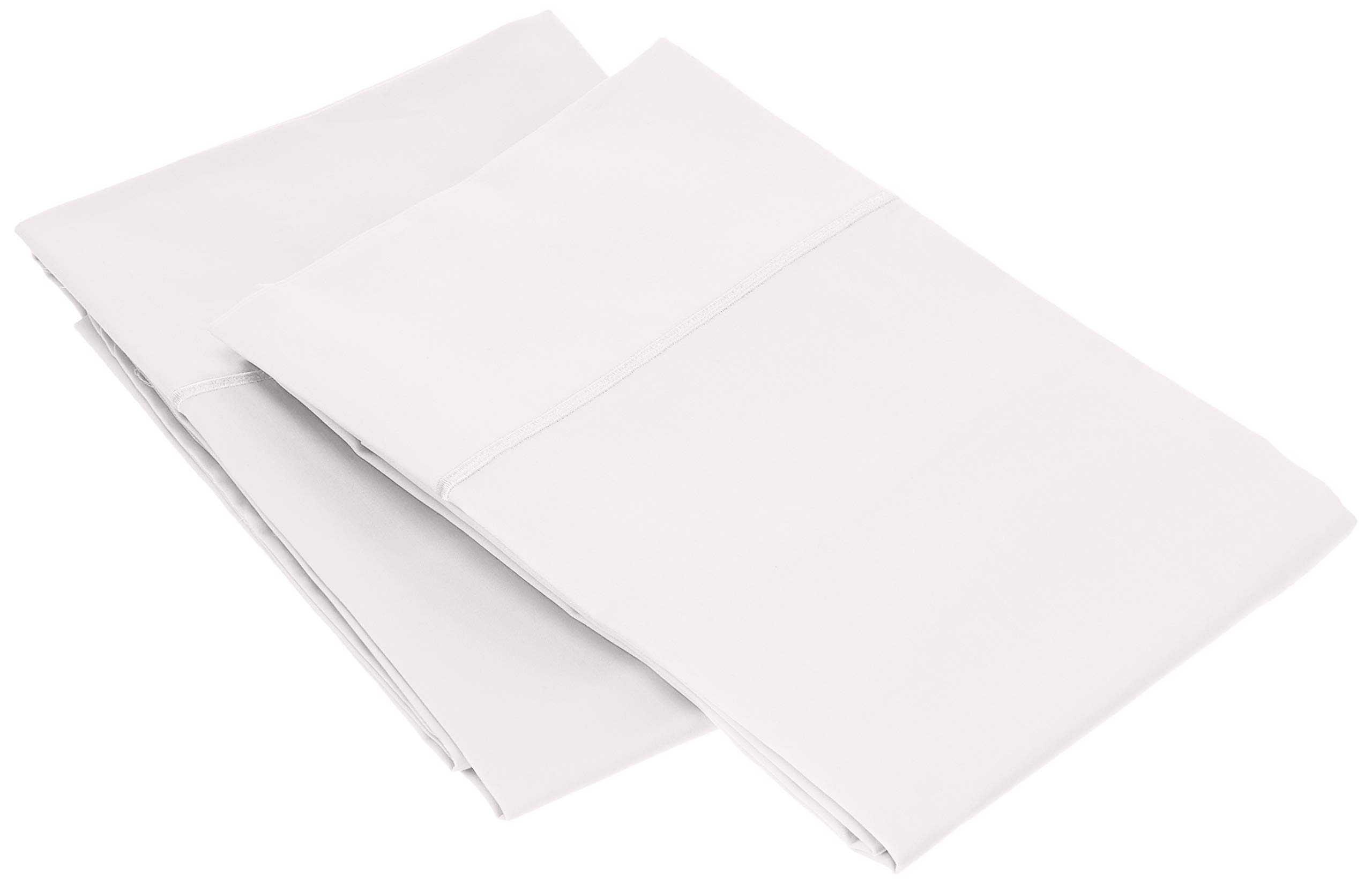 Charisma 310 Thread Count Classic Solid Cotton Sateen King Pillowcase Pair Bright White by Charisma