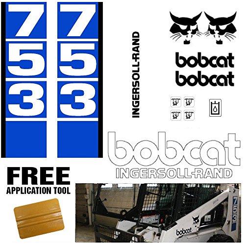 Bobcat 753 v1 Skid Steer Set Vinyl Decal Sticker bob cat MADE IN USA + Vinyl ()