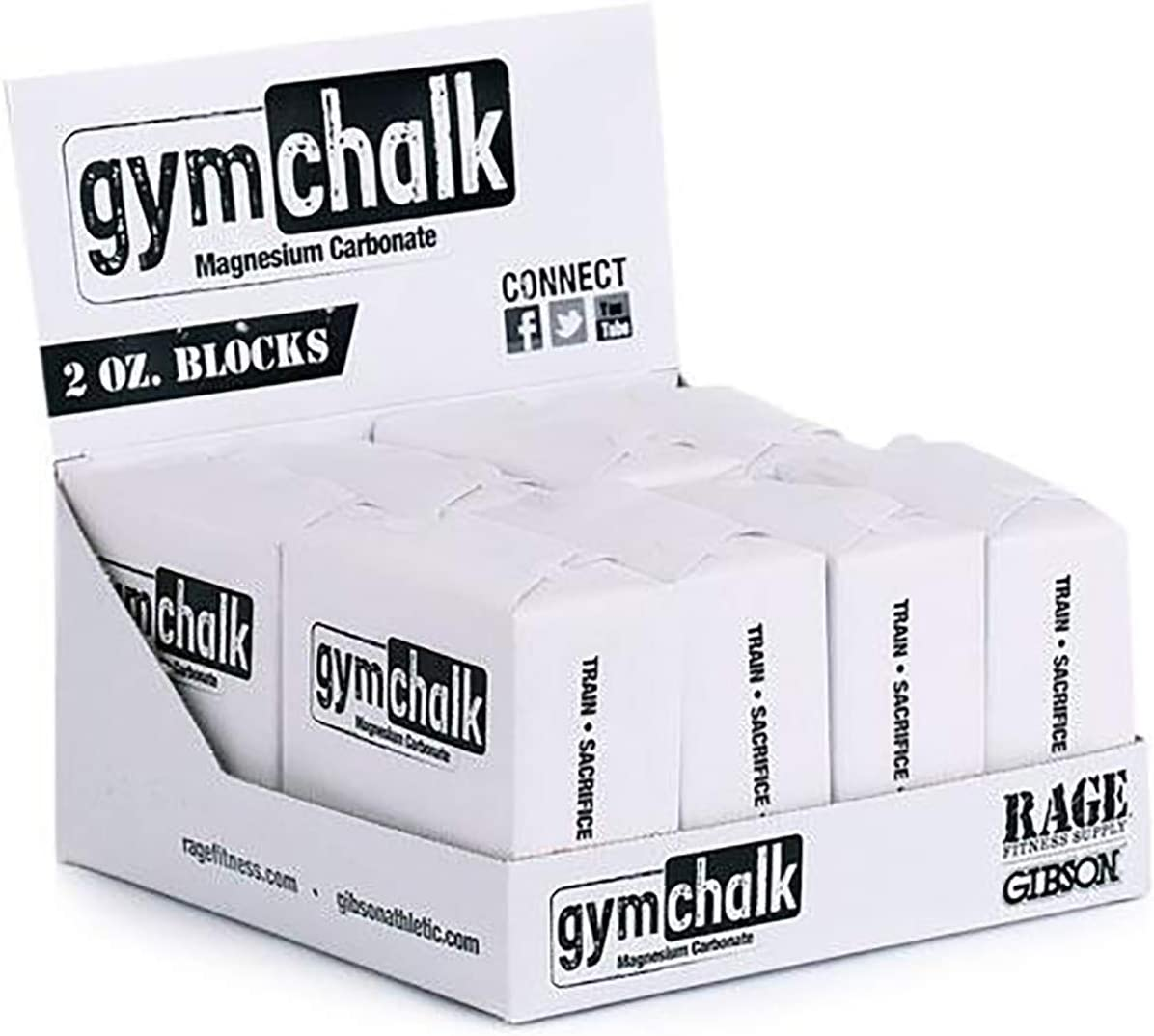Gibson Athletic Premium Block Gym Chalk, 1Lb, Consists of (8) 2 oz Blocks, Magnesium Carbonate, Gymnastics, Weightlifting, Rock Climbing White : Sports & Outdoors