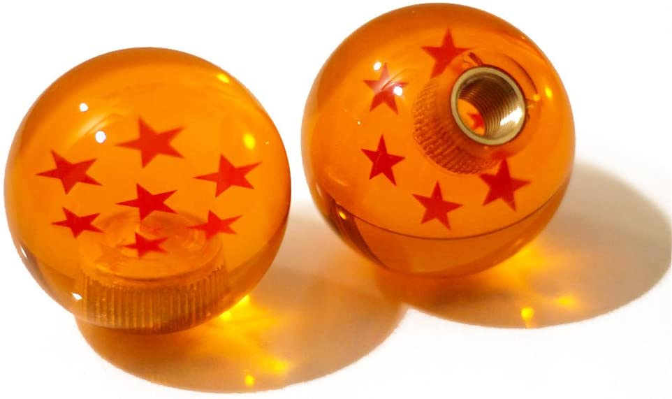 Kei Project Dragon Ball Z Star Manual Stick Shift Knob with Adapters Fits Most Cars (7 Star)