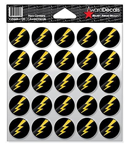 Award Decals Lightning Bolt Award Decals (Yellow Gold on Black)