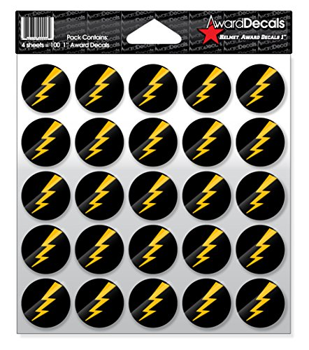 Award Decals Lightning Bolt (Yellow Gold on Black) ()