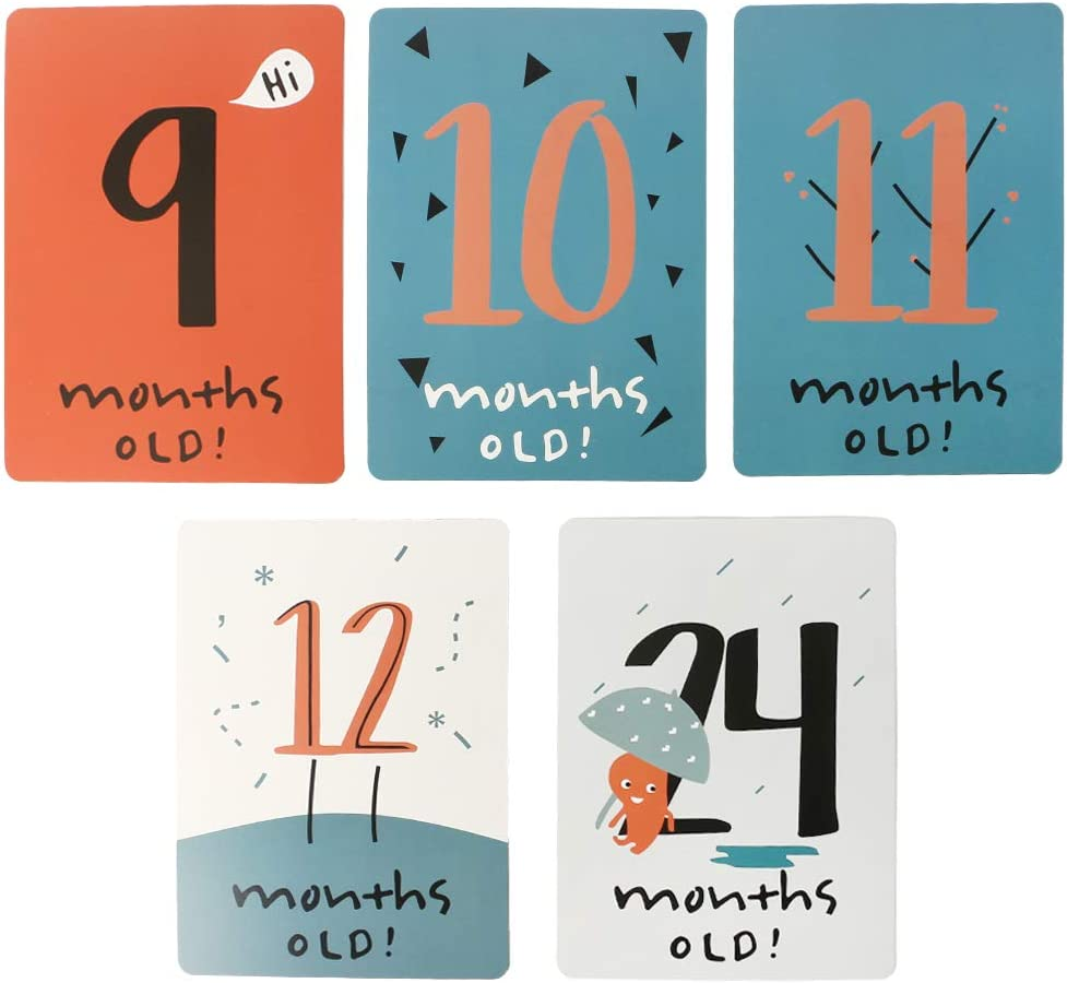 FATTERYU 20 Pcs//Set Month Card Baby Photography Photo Cards Monthly Newborn Photos Funny Cartoon Decoration Creative Commemorative Memorial Milestone