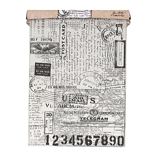 ADVANTUS CORPORATION Tim Holtz Idea-ology Postale Tissue Wrap, Decorative Craft Paper, 1-12 Inch Wide Roll, 15 Feet per Roll, TH93181