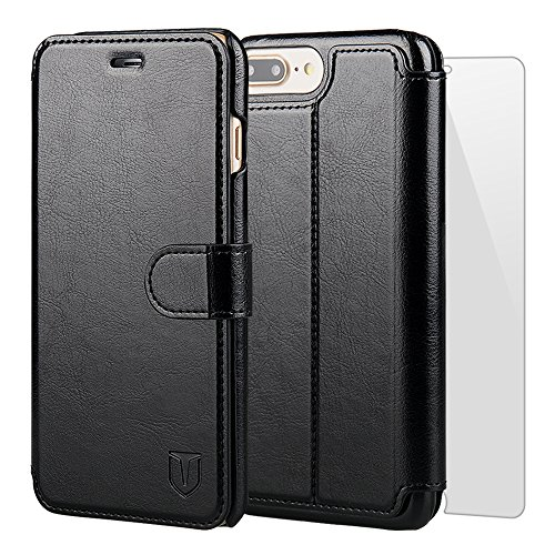 TANNC iPhone 8 Plus Wallet Case, iPhone 7 Plus Case, Flip Leather Phone Case [Screen Protector Included] [Layered Dandy] [Card Slot] [Kickstand] - for iPhone 8 Plus and iPhone 7 - Policy Mens Returns Warehouse