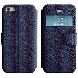 LEOCASE línea vertical Funda Carcasa Cuero Tapa Case Para Apple iPhone 5 / 5S No.1005578
