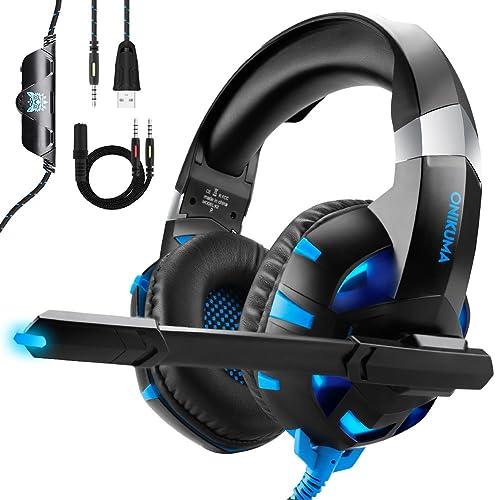 Auriculares Gaming para PS4 Xbox One o PC con Micrófono y Luz LED, ONIKUMA Auriculares