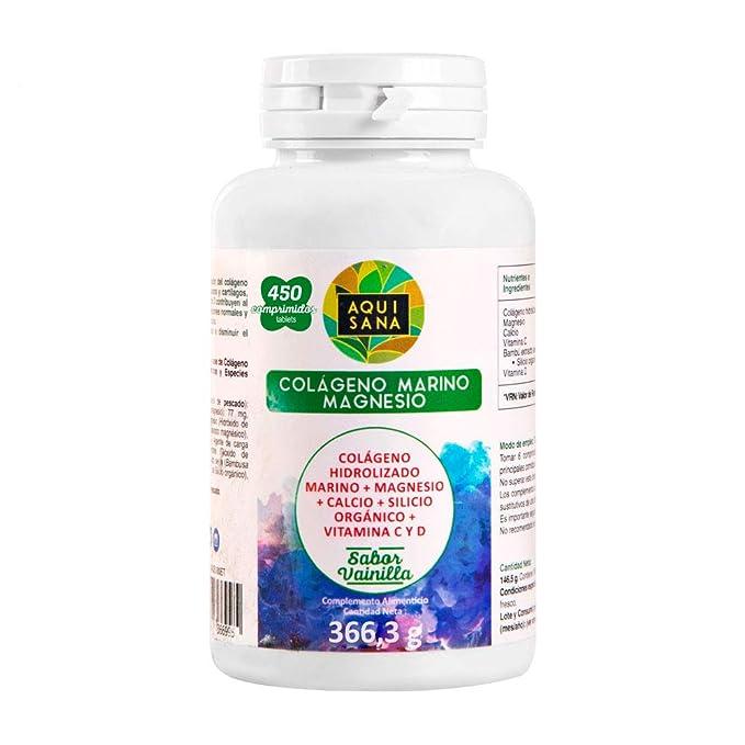 Colágeno Hidrolizado Marino ✓ Magnesio ✓ Calcio ✓ Vitamina C y D ✓ Huesos Sanos: Amazon.es: Salud y cuidado personal