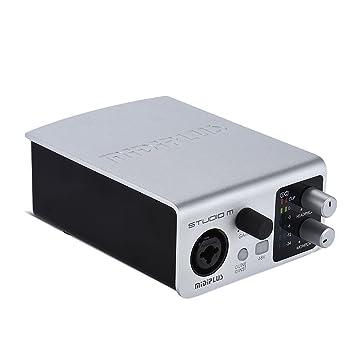 Interfaz de Audio USB Tarjeta de Sonido 1 Salidas de Entrada ...