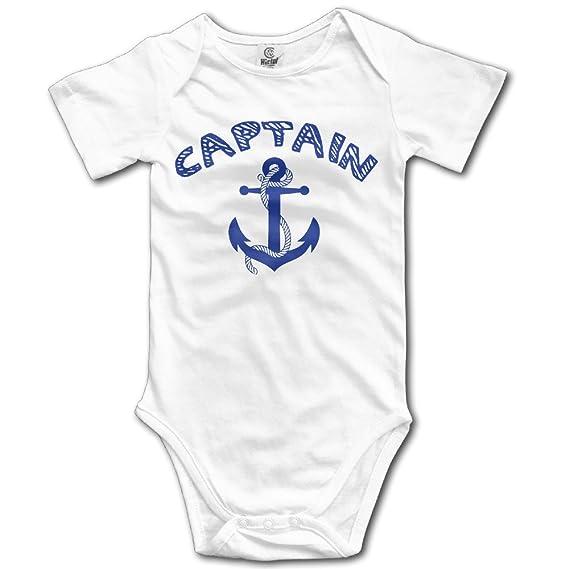 Badou Capitán con buques Anchor para 6 - 24 meses bebé Pelele de manga corta para Mono color blanco: Amazon.es: Hogar