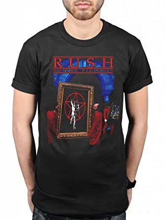 Men/'s Black T-Shirt Starman 2112 Official RUSH