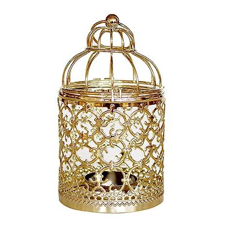 Uonlytech Forjador de vela de hierro forjado Forma de jaula ...