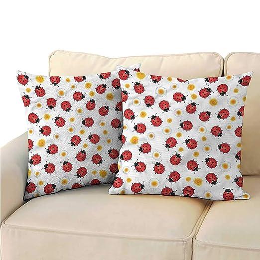 RuppertTextile Ladybugs - Funda de Almohada (poliéster ...