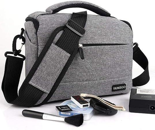 DIODIOR Bolso para cámara Bolso de Hombro de poliéster Estuche para Canon/ Nikon/Sony Bolso para Lente Bolsa de fotografía a Prueba de Agua Bolso fotográfico Bolsas para, Gris: Amazon.es: Hogar