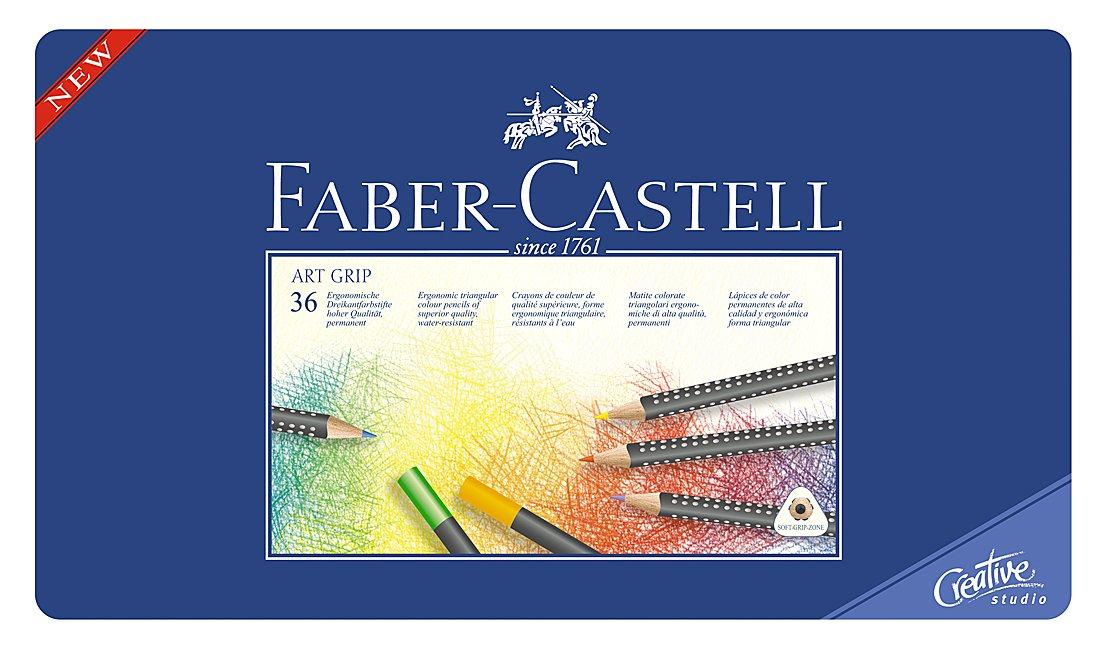 ファーバーカステル アートグリップ油性色鉛筆 36色セット 缶入 114336   B000EX0GQG