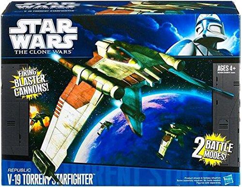 Star Wars Clone Wars Starfighter V-19 - Clone Wars Toys Wars The Star