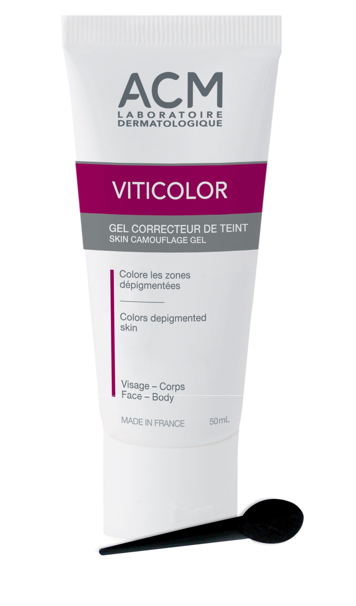 VITICOLOR ACM Laboratoire Dermatologique DURABLE SKIN CAMOUFLAGE GEL (50mL)