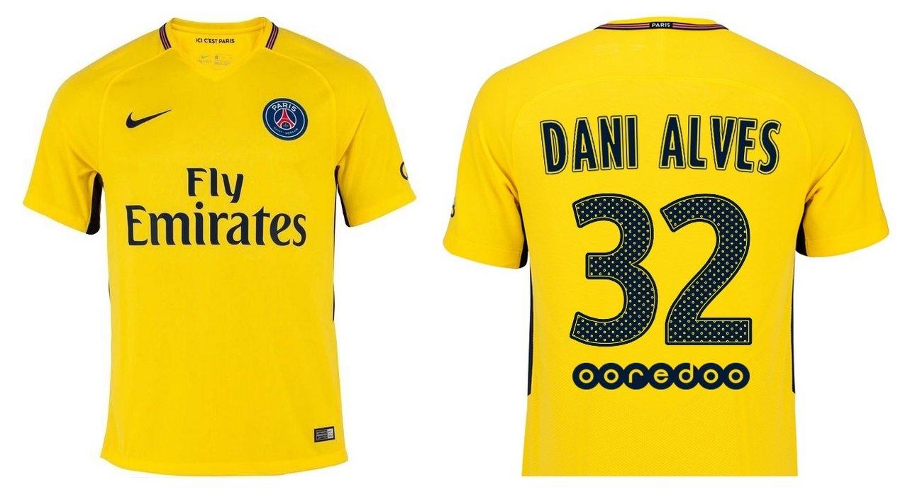 Trikot Kinder Paris Saint-Germain 2017-2018 Away - Dani Alves 32