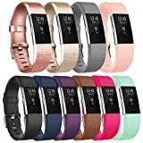 Vancle Bands for Fitbit Charge 2 Women Men, Soft Comfortable Charge 2 Replacement Bands Small Large for Fitbit Charge 2 Sport Accessory Fitness Wristbands (Classic-A, Small)