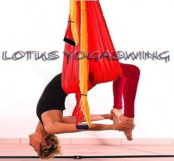 Columpio de yoga en tela de paracaídas 120x150 cm: Amazon.es ...