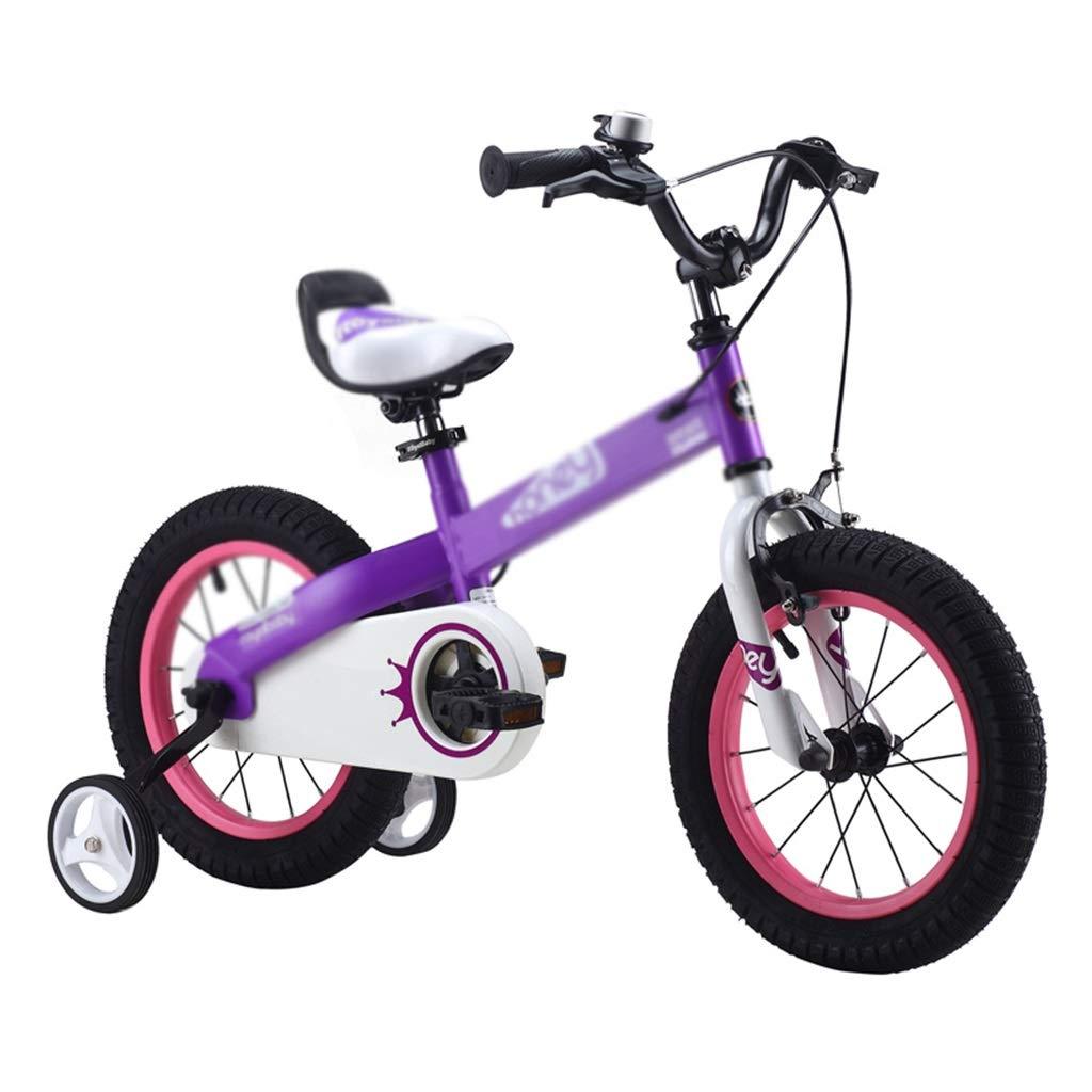子ども用自転車 子供の自転車シングルスピード自転車学生自転車少年自転車少女自転車自転車、2-10歳に適して (Color : Purple, Size : 16inches) 16inches Purple B07R615Y7Y