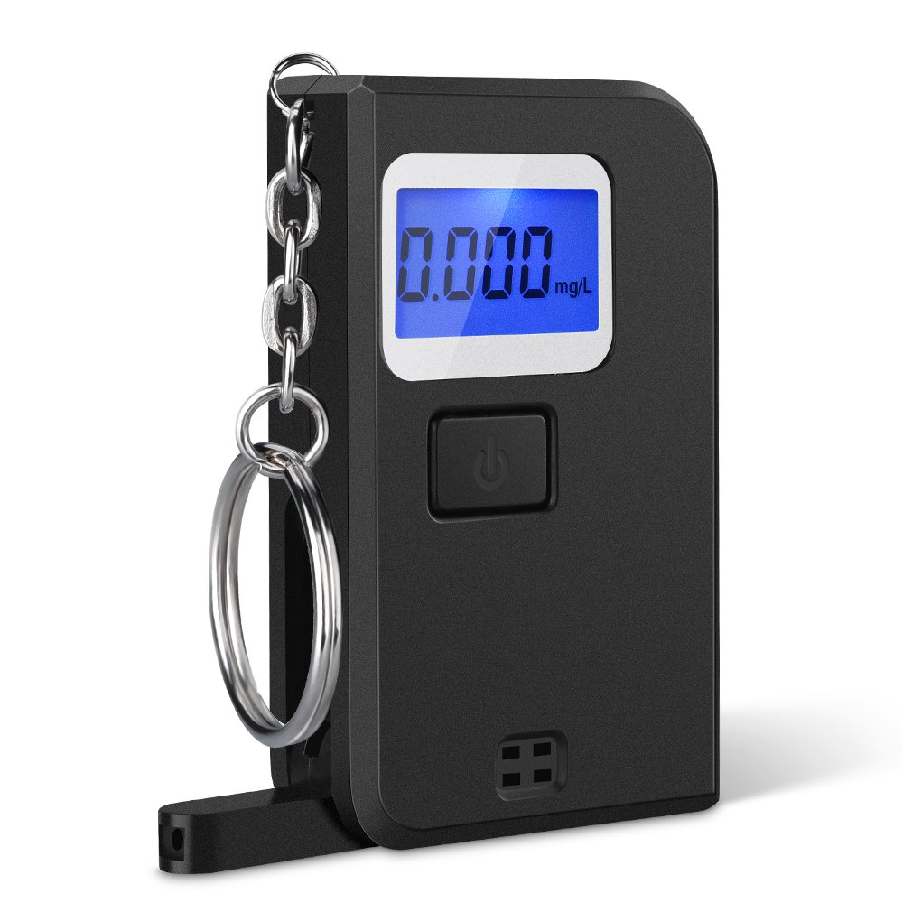 MicroYep VICTSING Mini Keychain Alkoholtester Alkoholmessgerä t LCD Display Wiederverwendbare Polizei Breathalyzer Analyzer fü r Fahrer