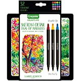 Crayola Signature Sketch & Detail Dual-Tip Markers, Professional Coloring Kit, Crayoligraphy Calligraphy, Gift