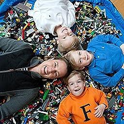 FENICAL Children\'s Play Toy Pouch Organizer Kids Toy Storage Bag (Blue)