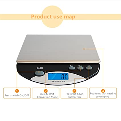 Amazon.com: Stainless Steel Digital Kitchen Weighing Scales, Portable Precision Electronic Waterproof Cake Baking Food Medicine Scale, Accurate Precision Up ...