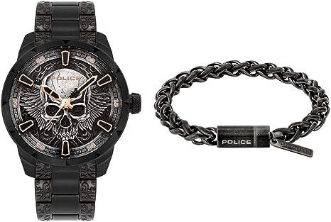Police Reloj Analógico para Unisex Adultos de Cuarzo con Correa en Acero Inoxidable FW19-XMAS Set: Amazon.es: Relojes