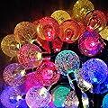 solarstring light crytall ball 60led