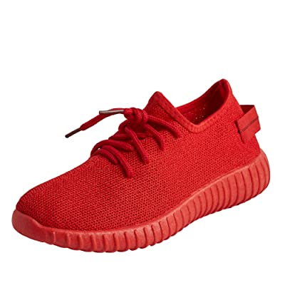 Magone Womens Mesh Athletic Sneakers Running Shoes Casual Shoes red 7 | Boots