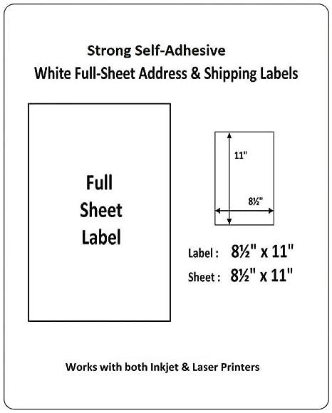 "Amazon.com: Besteck full-sheet 1Up 8.5""x11"" ..."