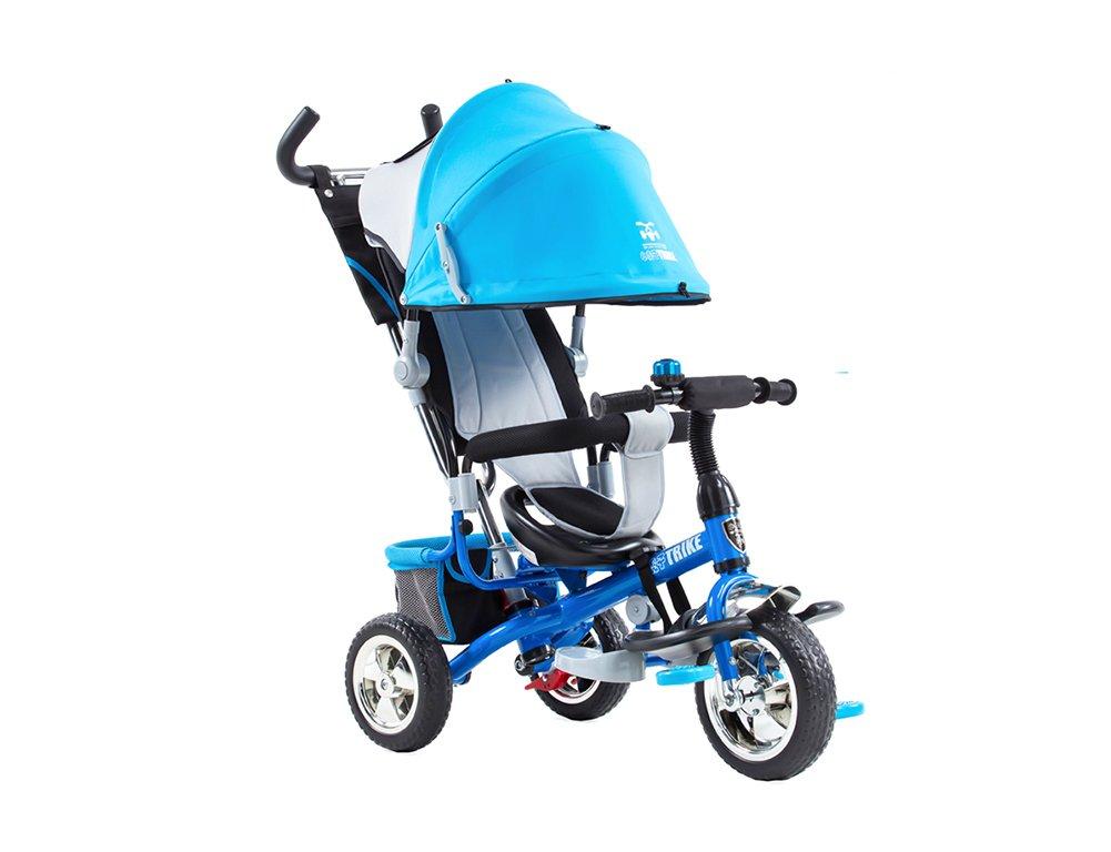 Cochecito de niño, triciclo Cochecito Niños Carro infantil Rueda Bicicleta Familia portátil 98 * 50 * 91cm (Color : Azul) : Amazon.es: Juguetes y juegos