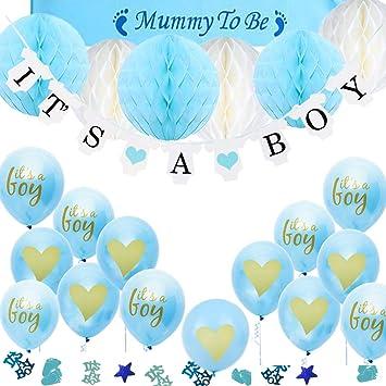 TopDeko Babyparty Deko Jungen, Baby Junge Deko Baby Shower Boy Deko ...