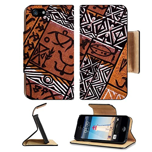 Pow Wow Man Indian Costumes (Liili Premium Apple iPhone 5 iphone 5S Flip Pu Leather Wallet Case aboriginal design from a native cloth iPhone5 Photo 306665 Simple Snap Carrying)