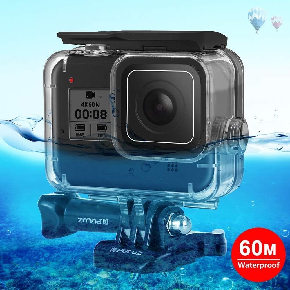 Camera Accessories 60m Underwater Depth Diving Case Waterproof Camera Housing for GoPro HERO8 Black for DJI by LUQIN