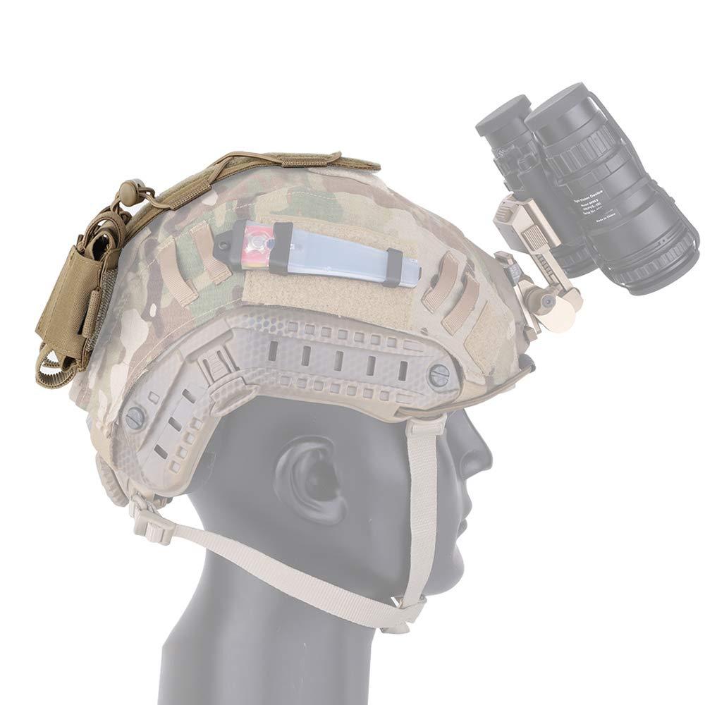 KRYDEX Tactical Helm Akku Tasche Gegengewicht Tasche MK1 Helm Akku Pack Balance Gewicht Tasche mit Haken /& Schlaufe f/ür Taktische Helm
