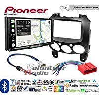 Volunteer Audio Pioneer AVIC-W8400NEX Double Din Radio Install Kit with Navigation, Apple CarPlay and Android Auto Fits 2011-2014 Mazda 2