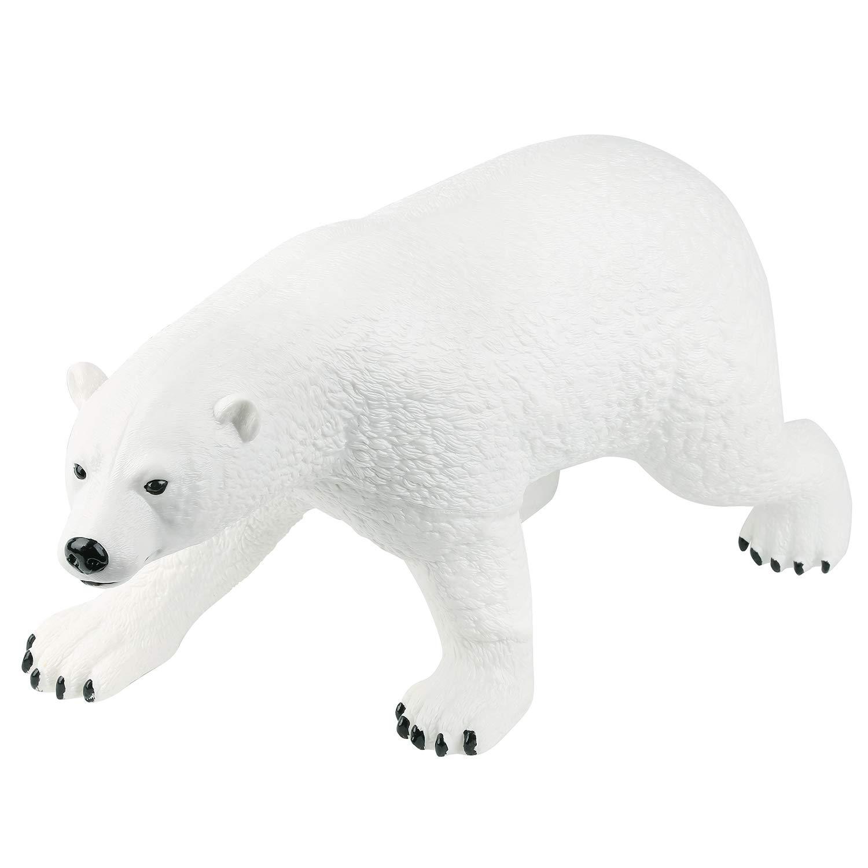 Large Realistic Arctic Polar Bear Toy Figure 20  Lifelike Sea Bear Toy Model Soft Vinyl Plastic Wild Animal Collection for Kids White