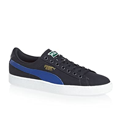 Puma Amazon Classic Shoes Canvas Navyroyal Bluewhite Basket New qq7ra