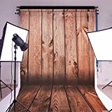 MOHOO 5X7ft Cotton Polyster Photography Background Mahogany color vertical grain theme Photography backdrop Collapsible and Washable Studio Prop Background (Updated Materia)No Wrinkle
