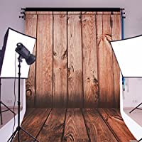MOHOO 5X7FT 100% Polyester Photo Background Newborn Wood Floor Wooden Wall Mahogany Grain Photography Backdrop for Studio Photo Props 1.5x2.1m